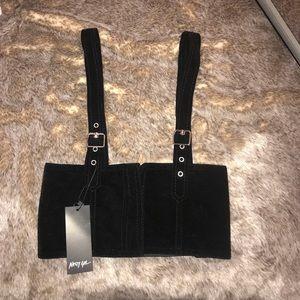 Black Velvet Harness Waist Belt